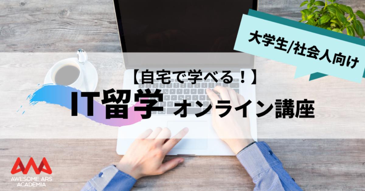 大学生・社会人向けオンラインIT留学